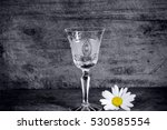 crystal wine glass  on wooden... | Shutterstock . vector #530585554