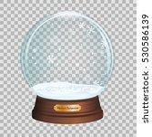 Glass Toy. Snow Realistic Glob...