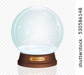glass toy. snow realistic globe.... | Shutterstock .eps vector #530586148