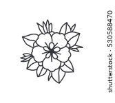 doodle icon. flower.... | Shutterstock .eps vector #530588470