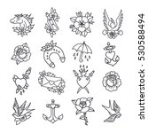 doodle icon. traditional tattoo ... | Shutterstock .eps vector #530588494