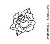 doodle icon. rose flower.... | Shutterstock .eps vector #530588548