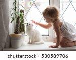 toddler blonde girl playing... | Shutterstock . vector #530589706