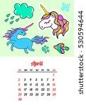 calendar 2017 in cartoon 80s...   Shutterstock . vector #530594644