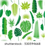 beautiful seamless tropical... | Shutterstock . vector #530594668