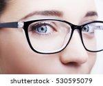 beautiful young woman wearing... | Shutterstock . vector #530595079