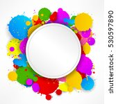 round stitching paper on... | Shutterstock .eps vector #530597890