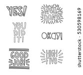 good job hand lettering set  ... | Shutterstock . vector #530598169