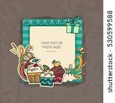 photo frame on vintage... | Shutterstock .eps vector #530599588
