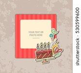 photo frame on vintage... | Shutterstock .eps vector #530599600