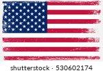 grunge usa flag.vector american ... | Shutterstock .eps vector #530602174
