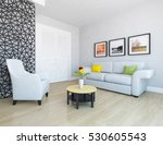 white room with sofa. living... | Shutterstock . vector #530605543