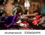 purple mardi gras mask on... | Shutterstock . vector #530606494
