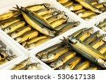 trays with smoked mackerel... | Shutterstock . vector #530617138