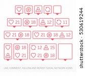 social network icons pack on...   Shutterstock .eps vector #530619244