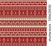 christmas ornamental pattern  | Shutterstock .eps vector #530620030