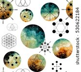 seamless pattern with sacred... | Shutterstock . vector #530622184