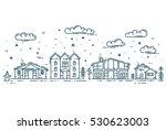 winter cityscape. vector... | Shutterstock .eps vector #530623003