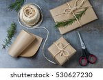 beautifully wrapped gifts with... | Shutterstock . vector #530627230