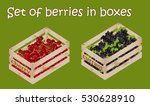 Set Berries In A Bright Wooden...