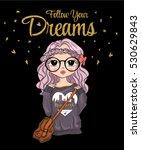 cute girl t shirt graphics girl ... | Shutterstock .eps vector #530629843