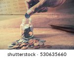 saving money and account growth ... | Shutterstock . vector #530635660