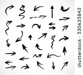 hand drawn arrows  vector set | Shutterstock .eps vector #530635843