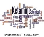 ketamine  word cloud concept on ... | Shutterstock . vector #530635894