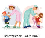 set illustrations of little... | Shutterstock .eps vector #530640028