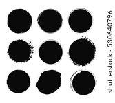 vector grunge circle set.... | Shutterstock .eps vector #530640796