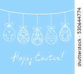easter greeting card. eggs with ... | Shutterstock . vector #530644774