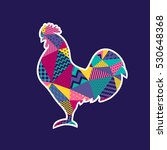 vector illustration of rooster. ...