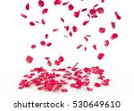 Stock photo rose petals fall to the floor isolated background 530649610