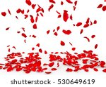 Stock photo rose petals fall to the floor isolated background 530649619