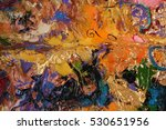 texture of oil painting | Shutterstock . vector #530651956