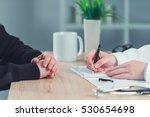 woman patient applying for... | Shutterstock . vector #530654698