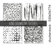 ink hand drawn textures. can be ... | Shutterstock .eps vector #530656774