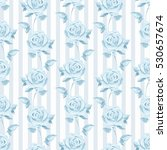Romantic Pattern With Roses....