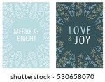 christmas card round design.... | Shutterstock .eps vector #530658070