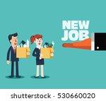 welcome to the new job vector...   Shutterstock .eps vector #530660020