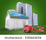 3d illustration of green house... | Shutterstock . vector #530663656