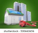 3d illustration of green house... | Shutterstock . vector #530663656