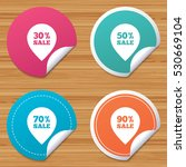 round stickers or website... | Shutterstock .eps vector #530669104