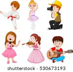 kids engaged in different...   Shutterstock .eps vector #530673193