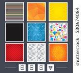 yellow background. carbon fiber ... | Shutterstock .eps vector #530674084