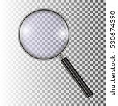 magnifying glass  with gradient ... | Shutterstock .eps vector #530674390