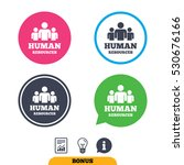 human resources sign icon. hr... | Shutterstock .eps vector #530676166