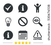 information icons. stop...   Shutterstock .eps vector #530676538