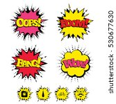 comic boom  wow  oops sound... | Shutterstock .eps vector #530677630