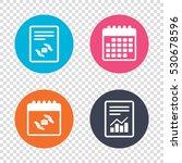 report document  calendar icons.... | Shutterstock .eps vector #530678596